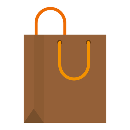 shopping bag paper isolated icon vector illustration design Vectores