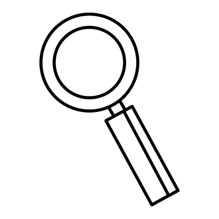 search magnifying glass icon vector illustration design Stock Vector - 77855331