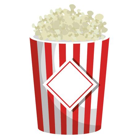 pop corn isolated icon vector illustration design Ilustração