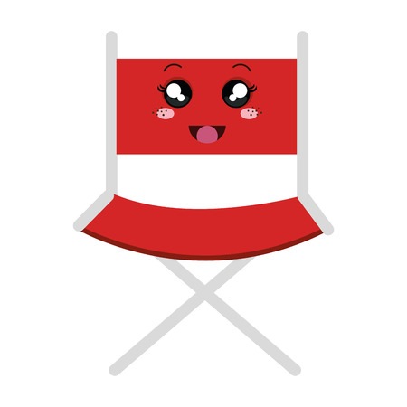movie theater: director chair character vector illustration design Illustration