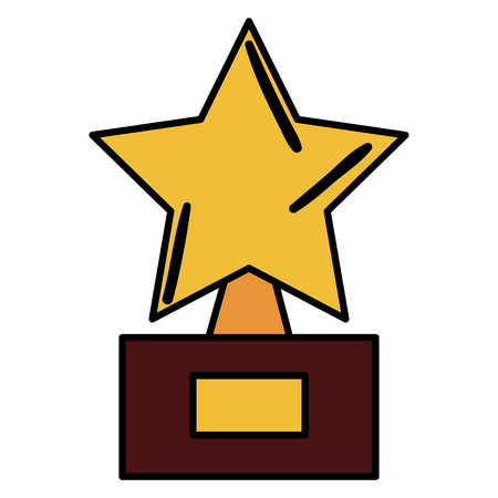 trophy star isolated icon vector illustration design
