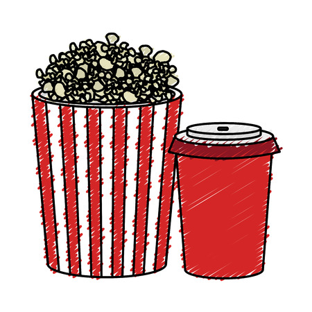 pop corn and soda isolated icon vector illustration design Imagens - 77887970