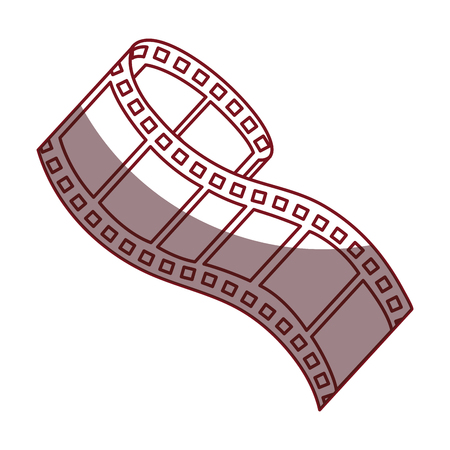 movie theater: tape film isolated icon vector illustration design