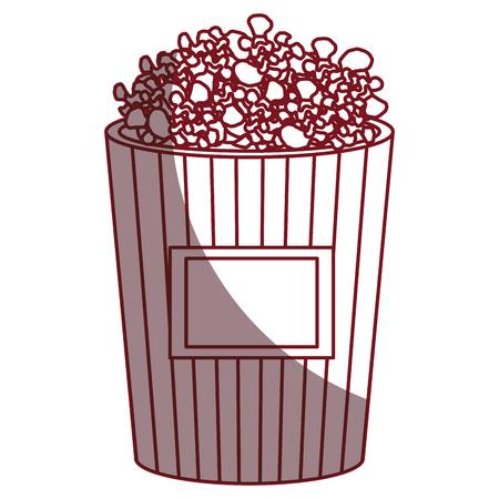 팝 옥수수 절연 아이콘 벡터 일러스트 디자인