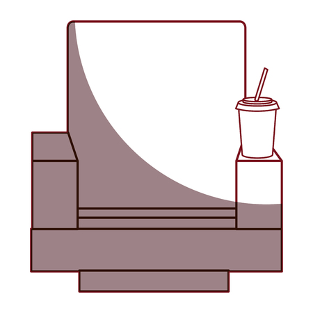 movie theater: Movie theater chairs icon vector illustration design