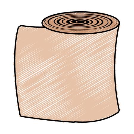 Medisch gaas geïsoleerd pictogram vector illustratie ontwerp
