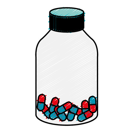 prescription bottles: medicine bottle with capsules isolated icon vector illustration design