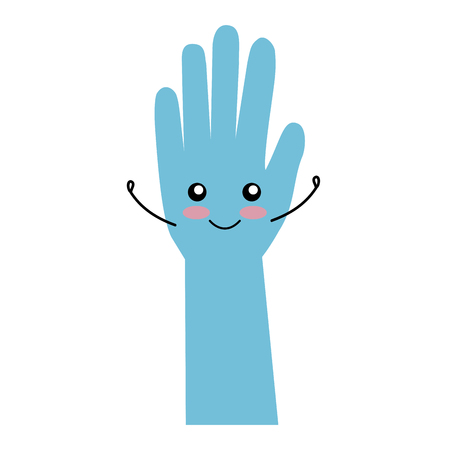 surgical gloves kawaii character vector illustration design Illustration