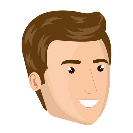 young man head avatar vector illustration design