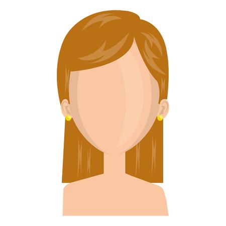 Jeune femme avatar torse nu caractère vector illustration design Banque d'images - 77965617