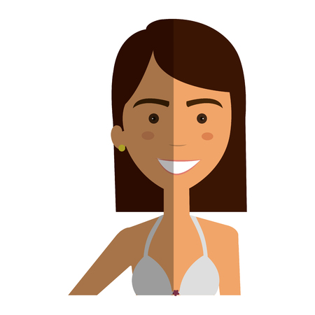 beautiful and young woman student vector illustration design Illustration