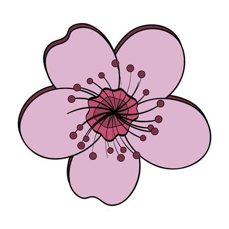 cute summer flower icon vector illustration design Иллюстрация