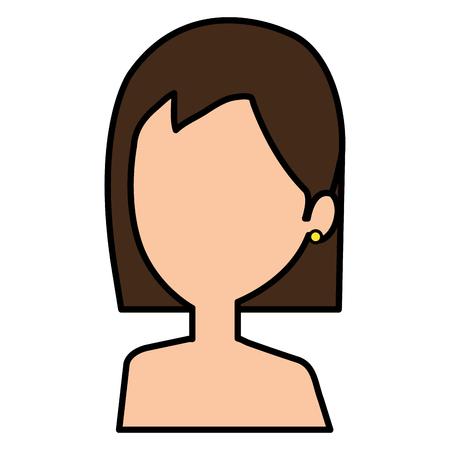 Jeune femme avatar torse nu caractère vector illustration design Banque d'images - 77891669