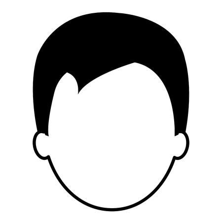 leuk klein vector de illustratieontwerp van het jongenskarakter