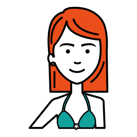 beautiful and young woman vector illustration design