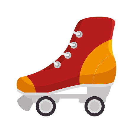 retro skate isolated icon vector illustration design