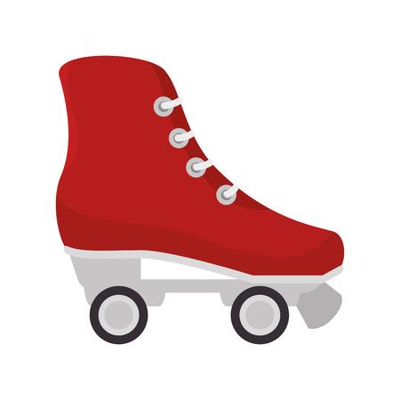 retro skate isolated icon vector illustration design