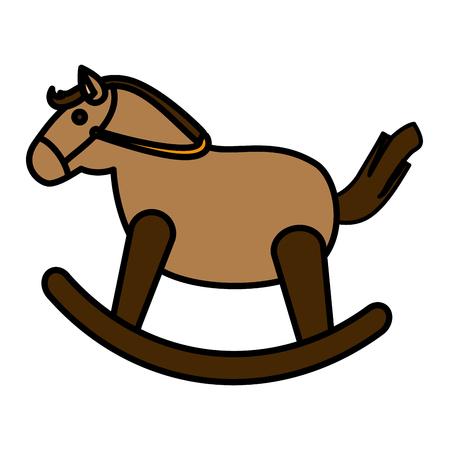 Pferd aus Holz isoliert Symbol Vektor-Illustration, Design, Vektorgrafik