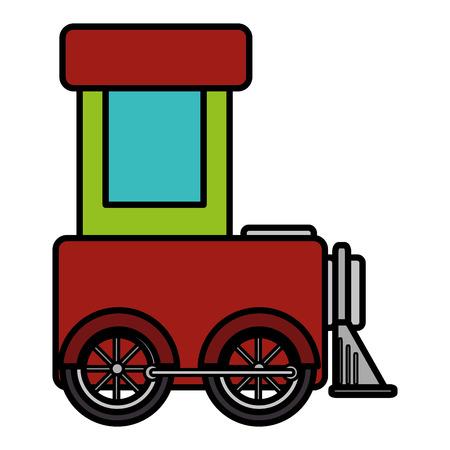 cute train toy icon vector illustration design