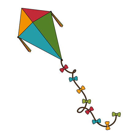 cute kite flying icon vector illustration design Illustration