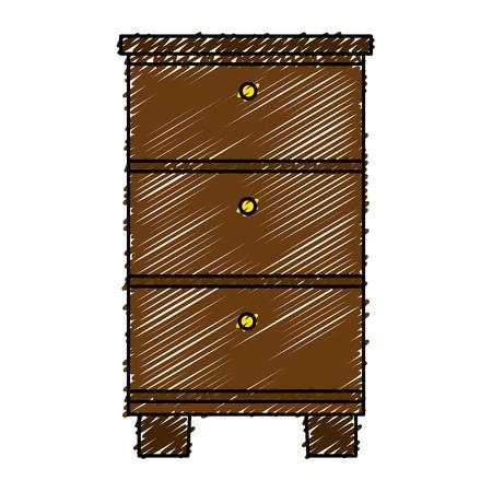 hout lade geïsoleerd pictogram vector illustratie ontwerp