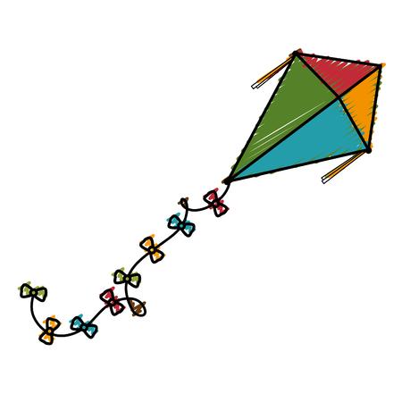 かわいい凧でアイコン ベクトル イラスト デザイン  イラスト・ベクター素材