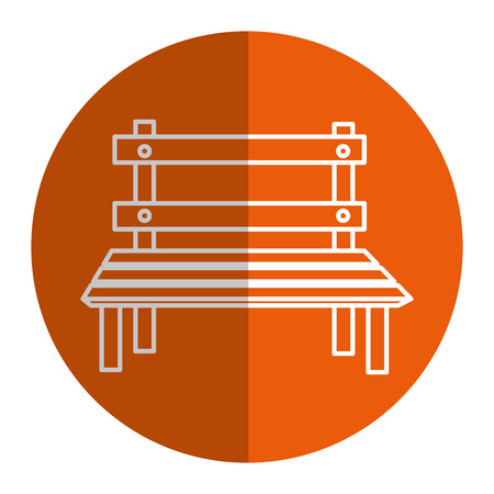 park chair isolated icon vector illustration design Illustration
