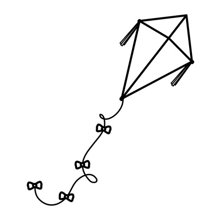 cute kite flying icon vector illustration design Illustration