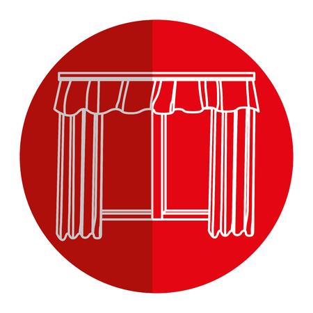 courtain: cute courtain windows icon vector illustration design