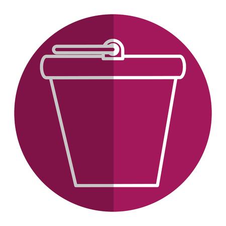 bucket pot isolated icon vector illustration design