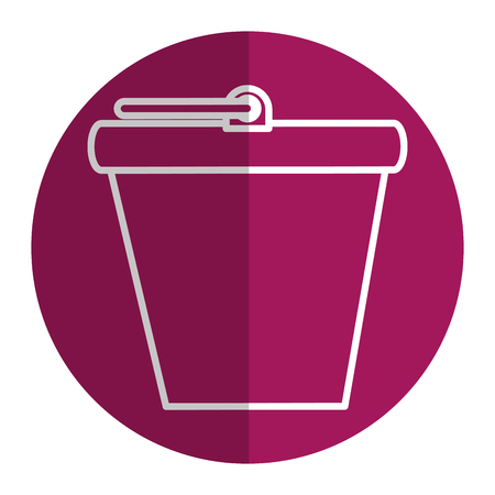 bucket pot isolated icon vector illustration design