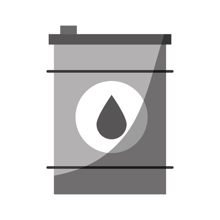 Oil barrel icon over white background vector illustration Çizim