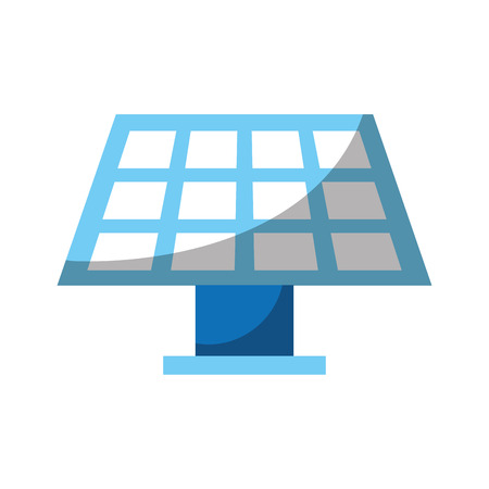 solar energy panel over white background colorful vector illustration