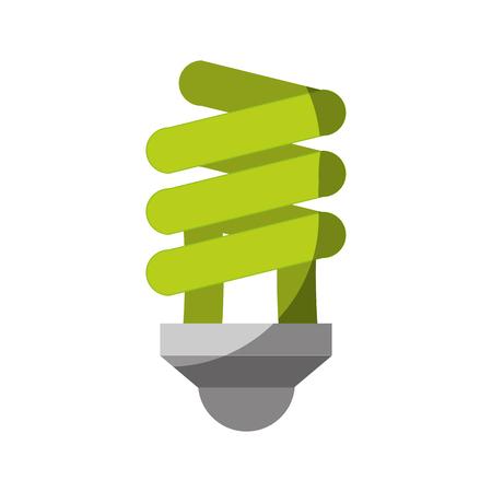 icône de l'ampoule verte sur fond blanc illustration vectorielle coloré Vecteurs