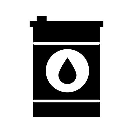 black and white oil barrel icon over white background vector illustration