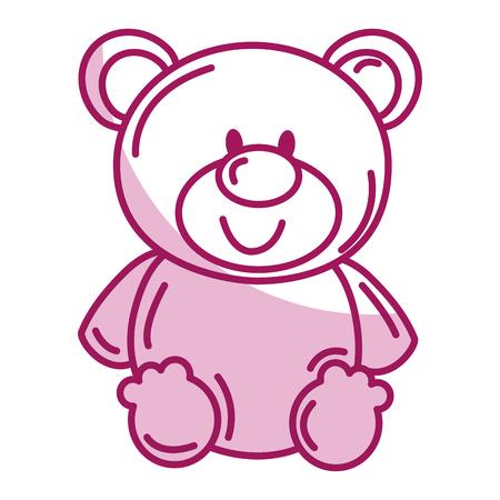 cute bear: bear teddy isolated icon vector illustration design