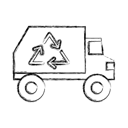 environmental sanitation: isolated recycle truck icon vector illustration graphic design