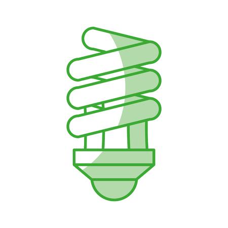 白地カラフルなベクトル イラスト上の緑色のライト電球アイコン