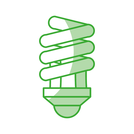 green light bulb icon over white background colorful vector illustration Иллюстрация