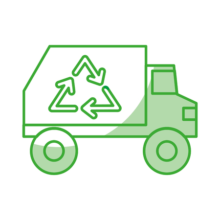 isolated recycle truck icon vector illustration graphic design