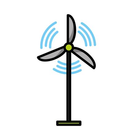 Wind turbine energy vector illustration graphic design