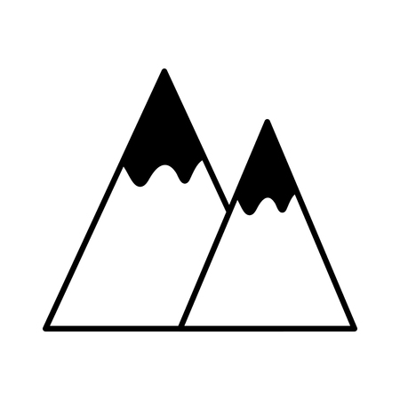 Mountains landscape symbol icon vector illustration icon graphic