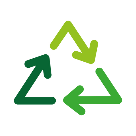 Recycle arrows symbol vector illustration icon design graphic