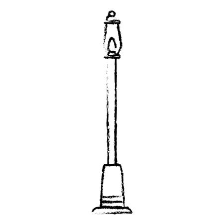 park lantaarn geïsoleerd pictogram vector illustratie ontwerp