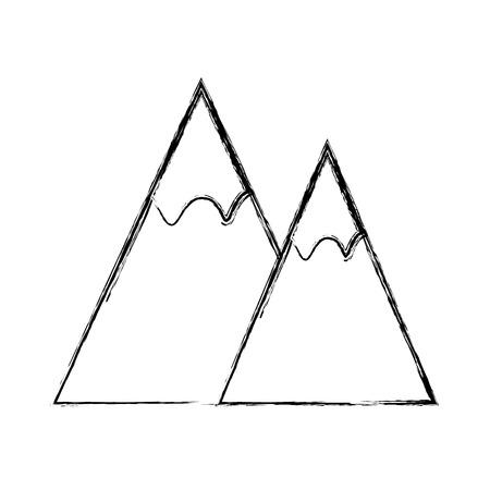 Mountain Nature landscape icon vector illustration graphic design