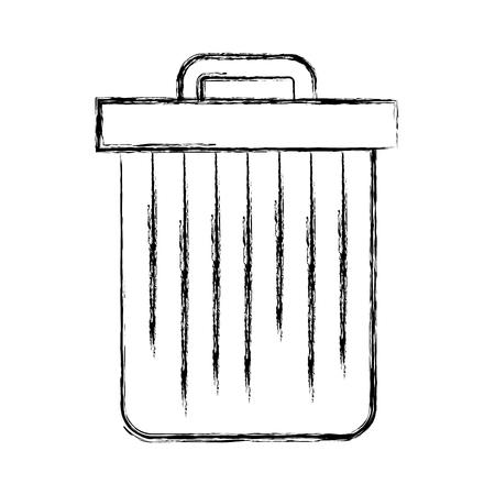 휴지통 절연 벡터 일러스트 그래픽 디자인