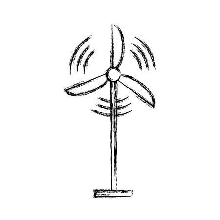 Wind turbine isolated vector illustration graphic design