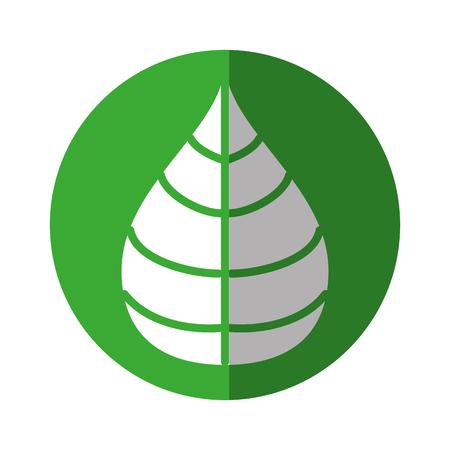 Leaf ecology symbol vector illustration graphic design