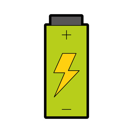 Battery electric energy vector illustration graphic design