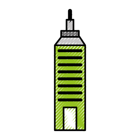 Urban building tower vecotr illustration graphic design